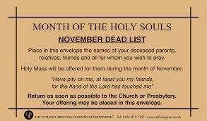 November Dead List