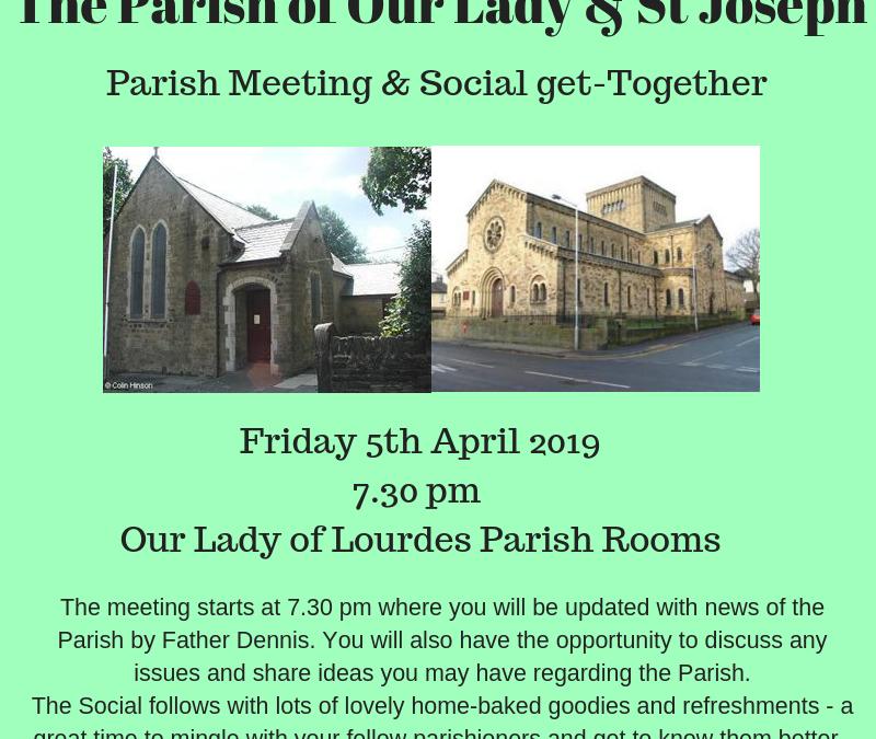 Bi-Annual General Parish Meeting and Social Get-Together