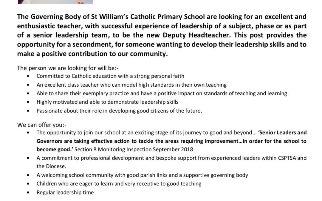 Secondment Opportunity for Deputy Headteacher