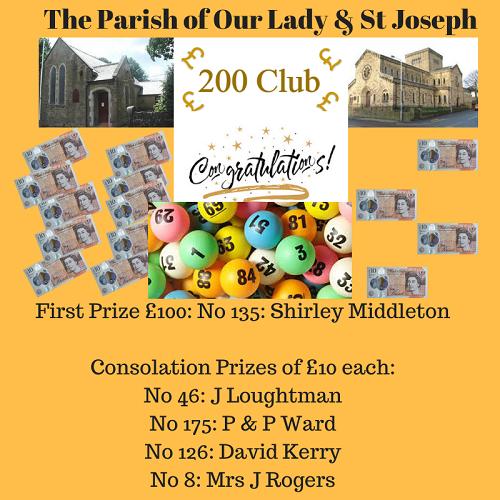 November 200 Club Draw
