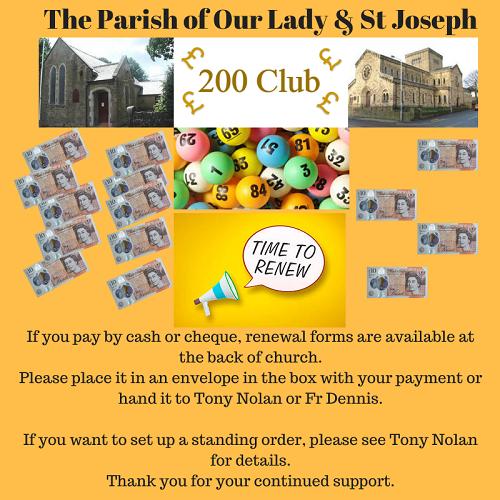 200 Club Renewal