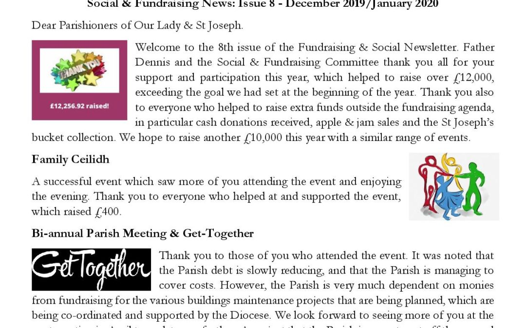 Latest copy of the Social & Fundraising Newsletter