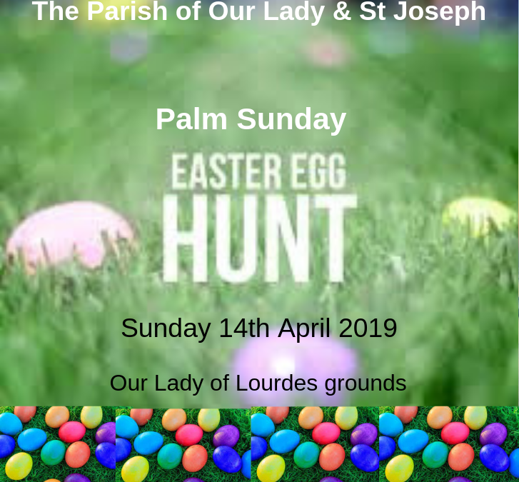 Parish Social Event – Palm Sunday Easter Egg Hunt