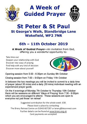 A week of Guided Prayer at Wakefield