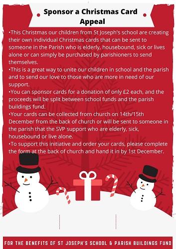 Sponsor a Christmas Card Appeal