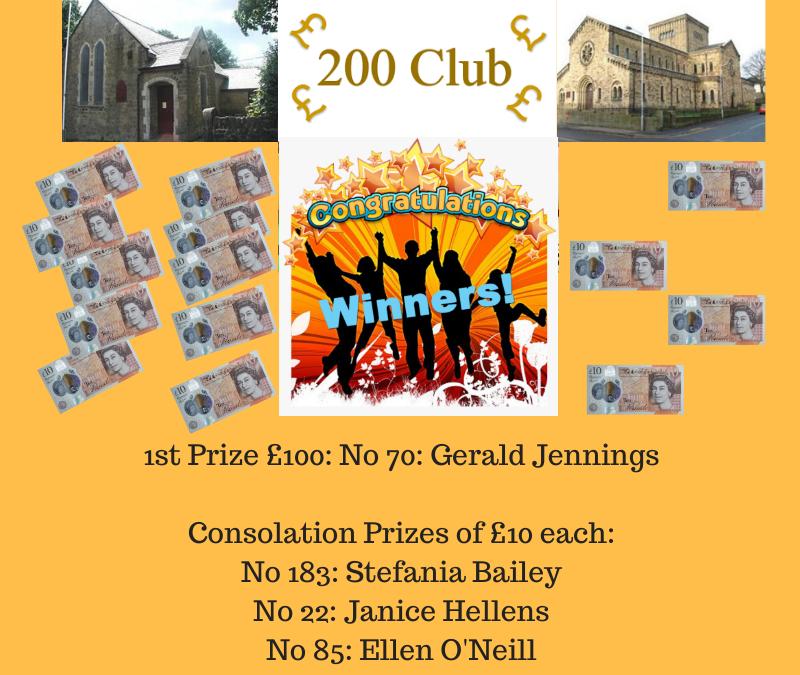 200 Club May Winners