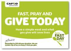 CAFOD Harvest Fast Day Appeal