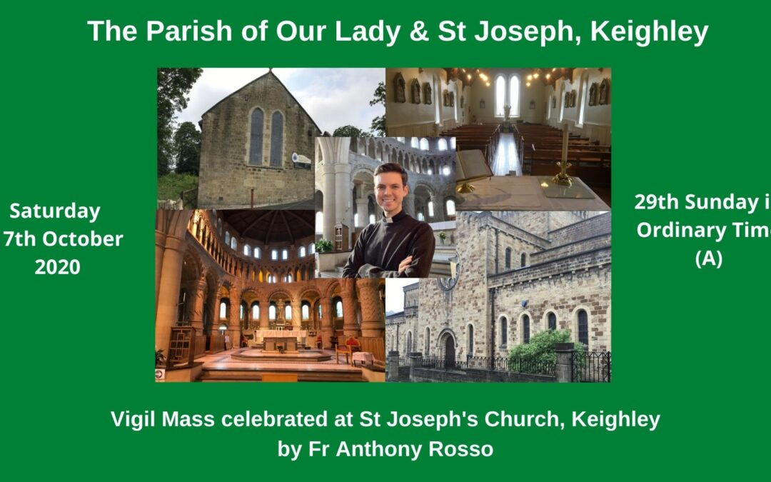 Video Mass from St Joseph's Church