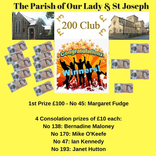 200 Club – July Draw